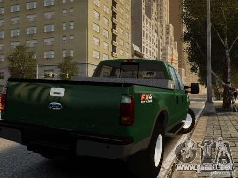 Ford F-250 FX4 2009 para GTA 4 left