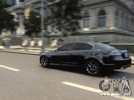 Pontiac G8 GXP para GTA 4 vista hacia atrás