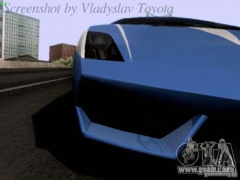 Lamborghini Gallardo LP560-4 Polizia para visión interna GTA San Andreas