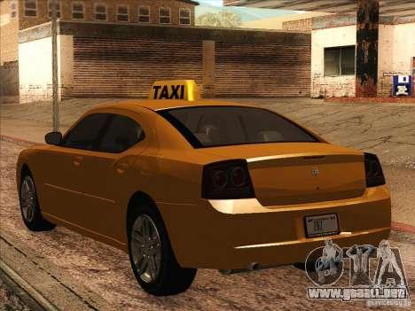 Dodge Charger STR8 Taxi para la visión correcta GTA San Andreas