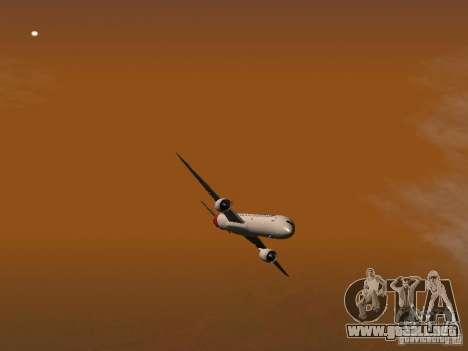 Boeing 787 Dreamliner Qantas para la vista superior GTA San Andreas