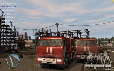 Kamaz bombero para GTA 4