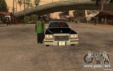 Cadillac Fleetwood Hearse 1985 para la visión correcta GTA San Andreas