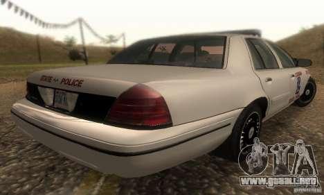 Ford Crown Victoria Louisiana Police para GTA San Andreas left
