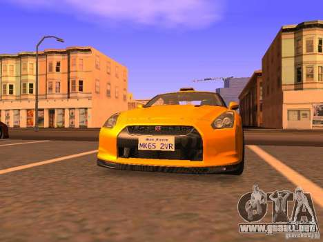 Nissan GT-R SpecV Black Revel para GTA San Andreas left