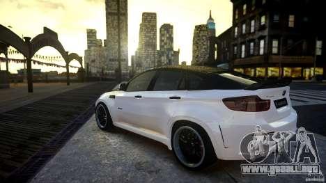 BMW X 6 Hamann para GTA 4 left