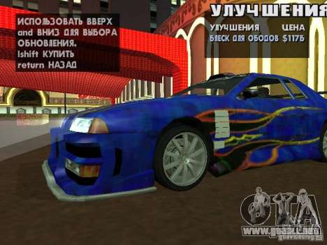 SA HQ Wheels para GTA San Andreas segunda pantalla