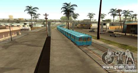 Metro tipo erizo para GTA San Andreas vista posterior izquierda
