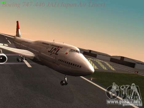 Boeing 747-446 Japan-Airlines para GTA San Andreas