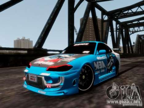 Nissm Silvia S15 Blue Tiger para GTA 4