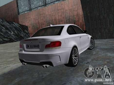 BMW 1M Coupe RHD para GTA Vice City visión correcta