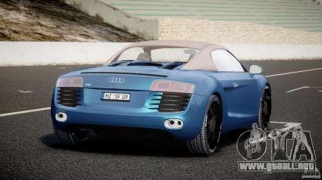 Audi R8 Spyder v2 2010 para GTA 4 Vista posterior izquierda