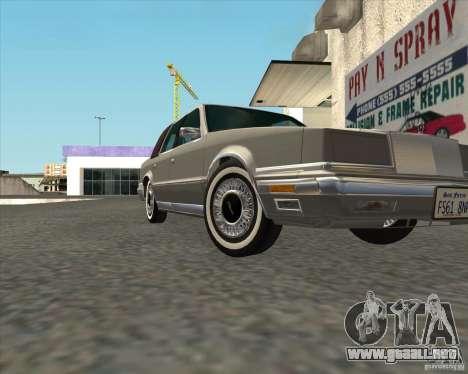 Chrysler New Yorker 1988 para la visión correcta GTA San Andreas