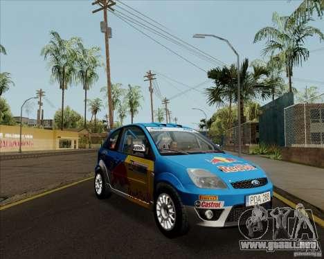 Ford Fiesta ST Rally para GTA San Andreas vista posterior izquierda