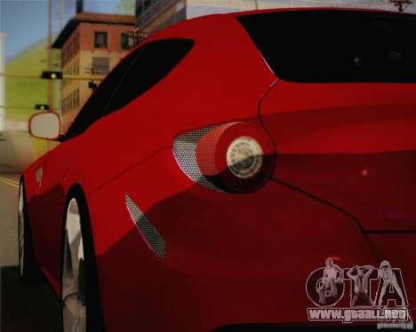 Ferrari FF Sport 2011 para visión interna GTA San Andreas
