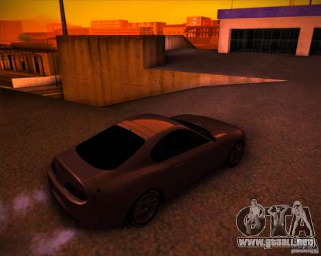 Toyota Supra SHE para GTA San Andreas vista hacia atrás