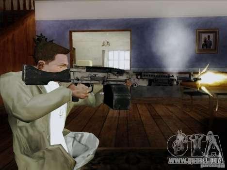 M240B para GTA San Andreas tercera pantalla