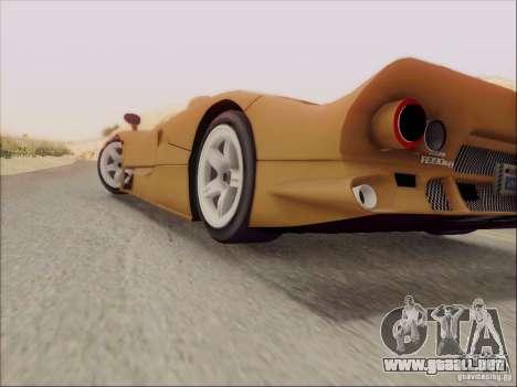 Nissan R390 Road Car v1.0 para visión interna GTA San Andreas