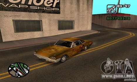 Ford Thunderbird 1964 para GTA San Andreas vista hacia atrás