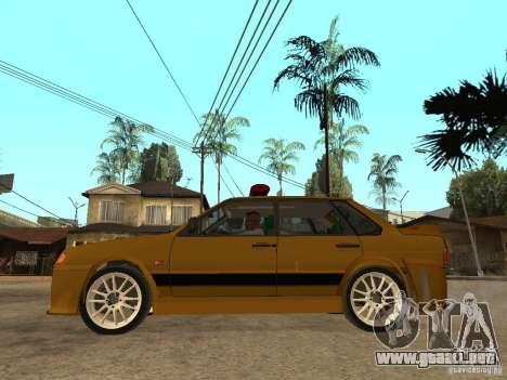 VAZ 2115 policía coches Tuning para GTA San Andreas left