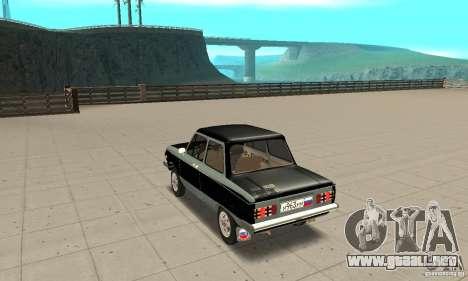ZAZ 968 m ver 1.0 para GTA San Andreas vista posterior izquierda