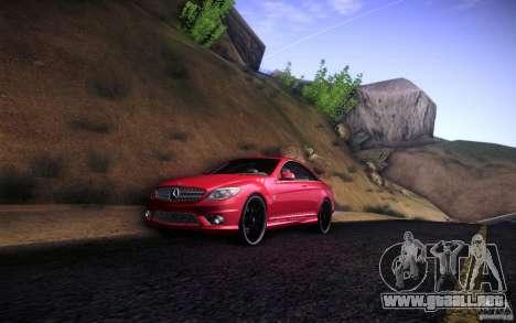 Mercedes Benz CL65 AMG para GTA San Andreas vista posterior izquierda