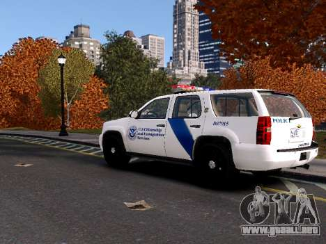 Chevrolet Tahoe Homeland Security para GTA 4 Vista posterior izquierda
