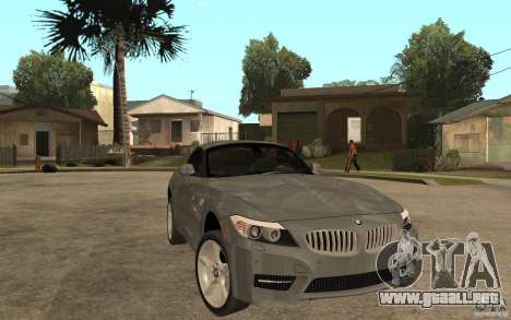 BMW Z4 sdrive35is 2011 para GTA San Andreas vista hacia atrás