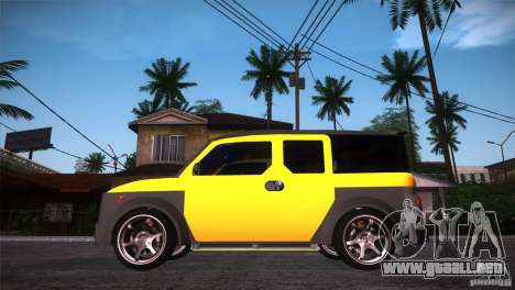 Honda Element LX para GTA San Andreas left