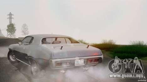 Plymouth GTX 426 HEMI 1971 para vista inferior GTA San Andreas