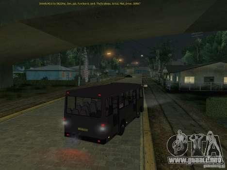 A091 Bogdan IVLM para GTA San Andreas vista hacia atrás