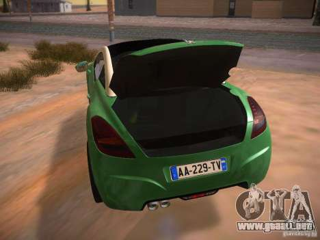 Peugeot RCZ 2010 para vista lateral GTA San Andreas