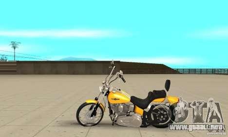 Harley Davidson softail Skin 1 para GTA San Andreas left