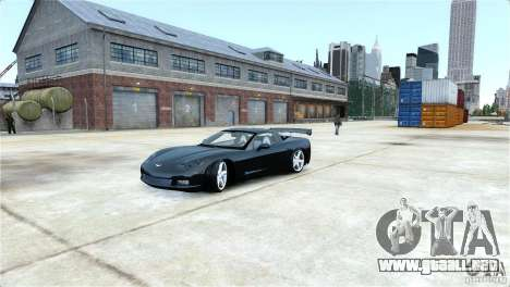 Chevrolet Corvette C6 Convertible v1.0 para GTA 4 vista lateral