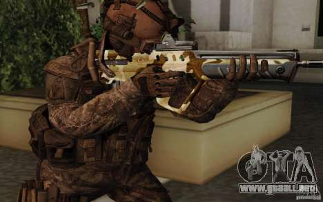 Tavor Tar-21 Camodesert para GTA San Andreas segunda pantalla