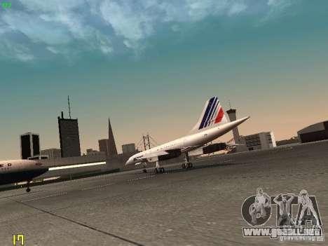 Aerospatiale-BAC Concorde Air France para la visión correcta GTA San Andreas