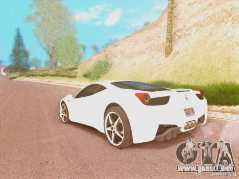 Ferrari 458 2010 para GTA San Andreas left