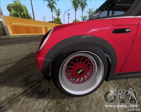 Mini Cooper S Euro para visión interna GTA San Andreas