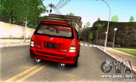 Toyota Kijang Innova 2.0 G para la visión correcta GTA San Andreas