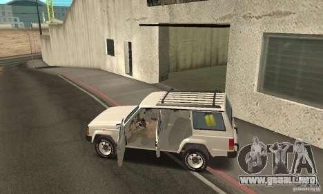 Jeep Grand Cherokee 1986 para la vista superior GTA San Andreas