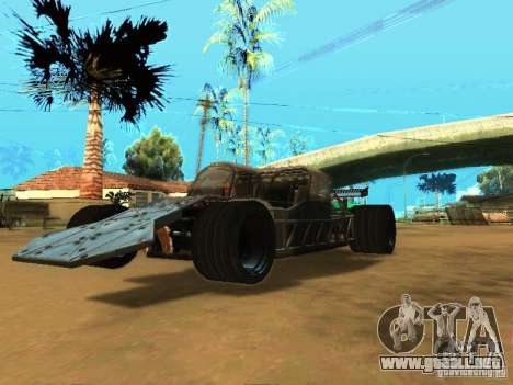 Fast & Furious 6 Flipper Car para GTA San Andreas vista posterior izquierda