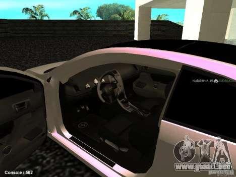 Toyota Scion para visión interna GTA San Andreas