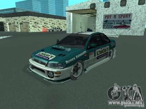 Subaru Impreza para la vista superior GTA San Andreas