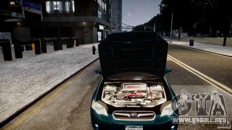 Subaru Legacy B4 GT para GTA 4 vista hacia atrás