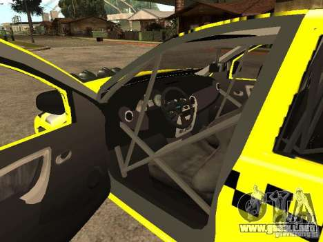 Dacia Sandero Speed Taxi para vista lateral GTA San Andreas