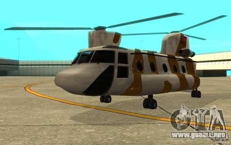 GTA SA Chinook Mod para GTA San Andreas left