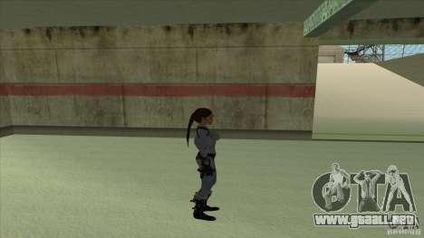 Lara Croft para GTA San Andreas sucesivamente de pantalla