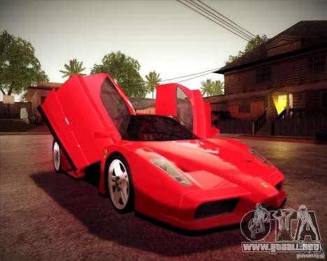Ferrari Enzo para GTA San Andreas vista hacia atrás