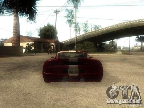 Axis Pegasus para GTA San Andreas vista posterior izquierda