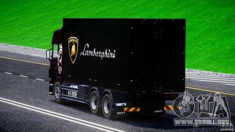 Scania R580 Tandem para GTA 4 Vista posterior izquierda